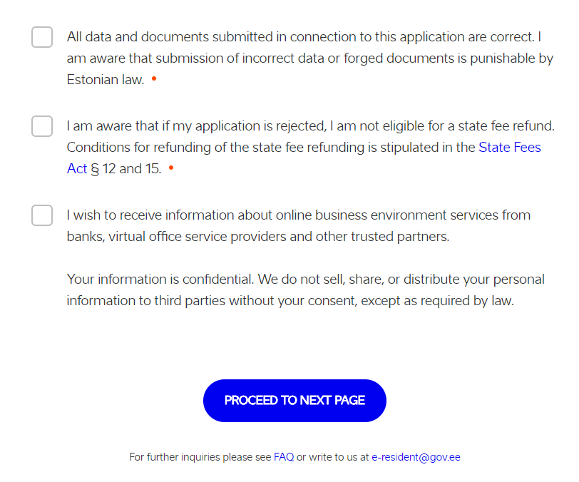 e-Residency Terms & Conditions (利用規約)